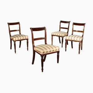 19th-Century English Mahogany Chairs, Set of 4