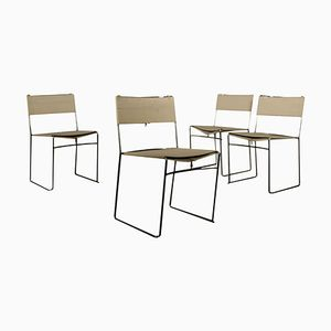 Vintage Italian Delfina Dining Chairs by Enzo Mari for Driade, Set of 4