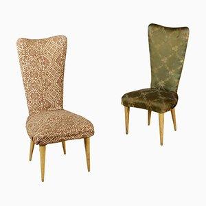 Sillas italianas vintage tapizadas, años 50. Juego de 2