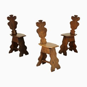 18th Century Italian Stools, Set of 3