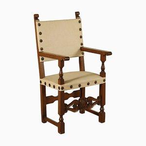 18th-Century Italian Carved Walnut Highchair