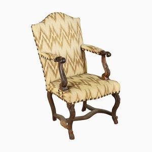 Italienischer Armlehnstuhl aus Nussholz, 1700er