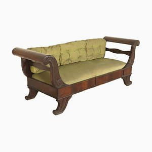 18th-Century Italian Mahogany Bench