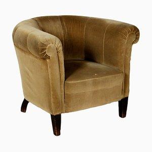 Vintage Italian Velvet Armchair, 1940s