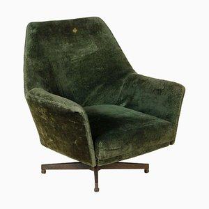 Vintage Italian Velvet Armchair from Saporiti Italia, 1960s