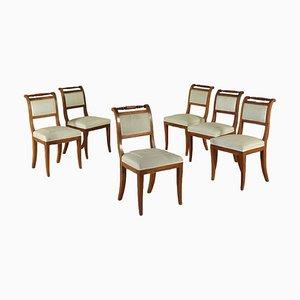 Chaises Restauration, Italie, 1800s, Set de 6