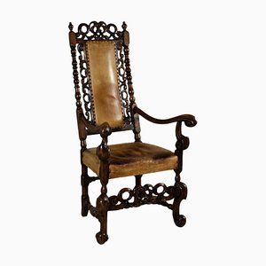 Antique Carved Throne