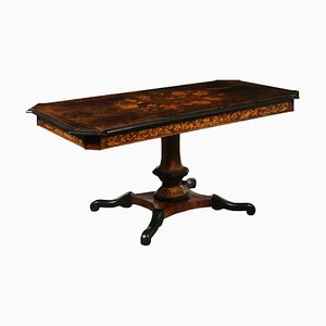 Antique Italian Table with Inlays, 1600s