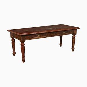 Italienischer Tisch aus Nussholz mit gedrechselten Beinen, 19. Jh.