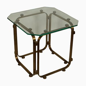 Vintage Italian Brass & Glass Coffee Table, 1960s