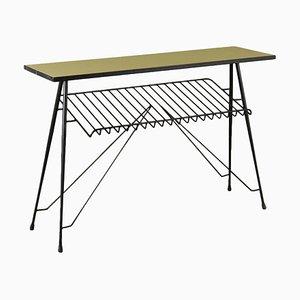 Table Console Vintage avec Porte-Revues, Italie, 1960s