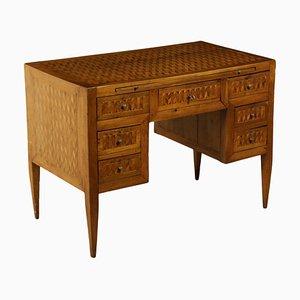 Kleiner neoklassizistischer Schreibtisch aus Ahorn, Kirsch- & Nussholz, 1700er