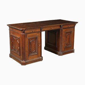 18th Century Walnut Pedestal Desk