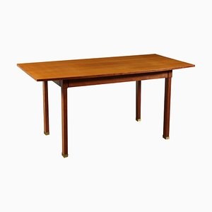 Stained Beech & Mahogany Veneer Table, 1960s