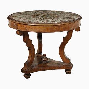 Italienischer Tisch mit Mosaikplatte, 1800er