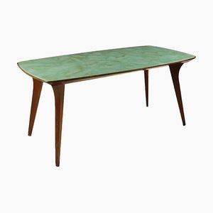 Table Vintage en Acajou et en Verre