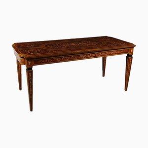 Revival Schreibtisch aus Nussholz, Ahorn, Mahagoni & Palisander, 1900er