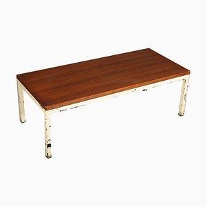 Table Basse Vintage en Teck et en Métal, 1960s