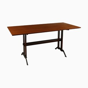Tavolo vintage in teak e metallo, anni '60
