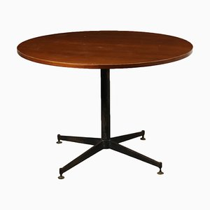 Italienischer Tisch aus Mahagoni & Metall, 1960er