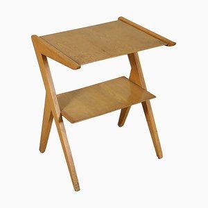Mueble de TV italiano de madera de haya y chapa de madera de arce, años 50