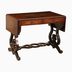 Tavolo allungabile in legno di acero e mogano, Inghilterra, XIX secolo