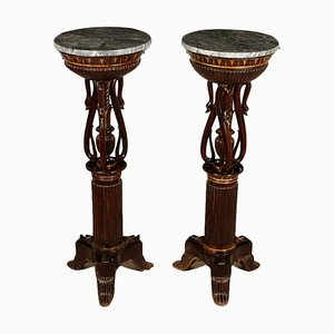 Tavolini in mogano, Italia, inizio XIX secolo, set di 2