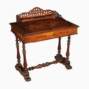 Italienischer Schreibtisch aus Nussholz, 1800er
