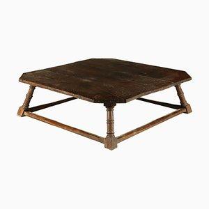 Grande Table Basse Vintage en Noyer