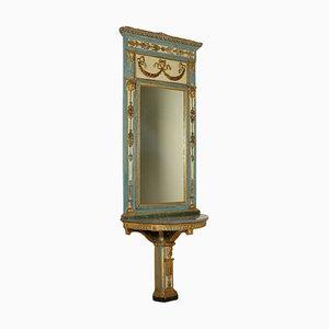Consola con espejo, siglo XVIII