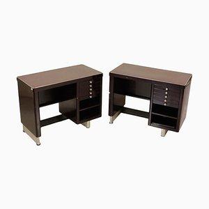 Schreibtische aus lackiertem Metall & Resopal, 1960er, 2er Set