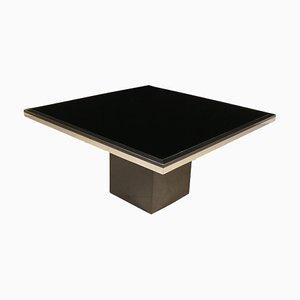 Tavolo vintage in alluminio e formica