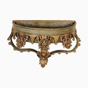 Maceta italiana de madera lacada y dorada, década de 1600