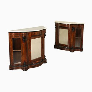 18th-Century Louis Philippe Style Rosewood Showcases, Set of 2