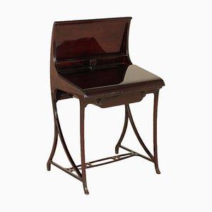 Schreibtisch aus Mahagoni & Kunstleder, 1980er