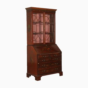 19th Century Mahogany Bookcase with Drop-Leaf