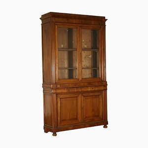 19th Century Italian Double Body Walnut Bookcase