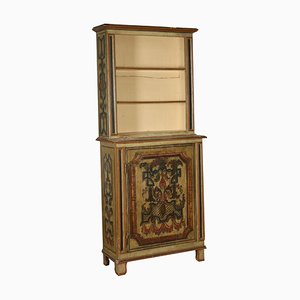 Antique Lacquered Cabinet with Bookcase