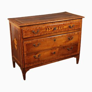 18th Century Italian Neoclassical Chest of Drawers with Inlays