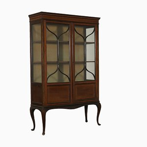 Antique English Mahogany Display Cabinet