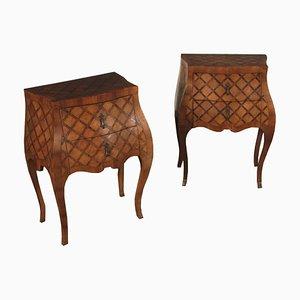 Tables de Chevet Serpentine Antiques, Italie, Set de 2