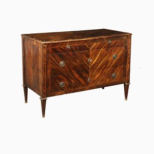 Italian Neoclassical Maple & Rosewood Chest of Drawers, 1700s