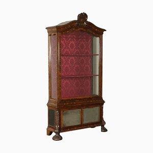 Mueble holandés de vidrio con incrustaciones, década de 1800