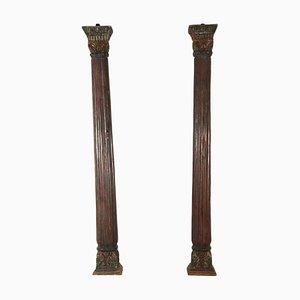 Antike italienische Säulen, 2er Set