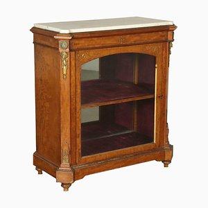 Mueble italiano pequeño con superficie de mármol, década de 1800