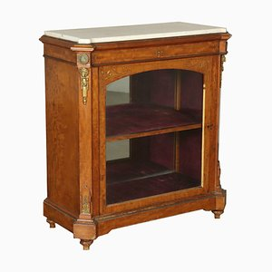 Small Italian Cabinet with Marble Top, 1800s