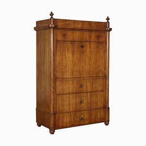 Antique Austrian Biedermeier Cabinet with Drop Leaf