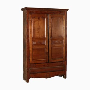 Antique Rustic Italian Cherry Wardrobe