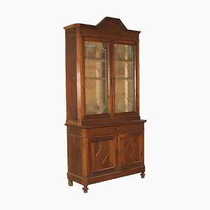 Italian Walnut Bookcase, 1800s