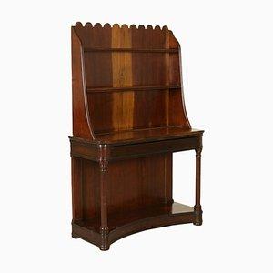 Consola italiana de nogal, siglo XIX